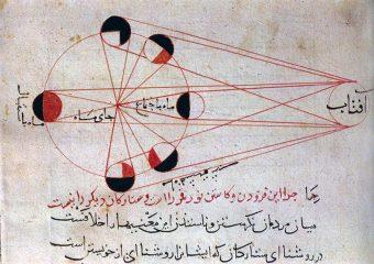Illustrazione della fasi lunari tratta da uno degli studi dello scienziato persiano Albiruni (973-1048). Crediti: Wikimedia Commons