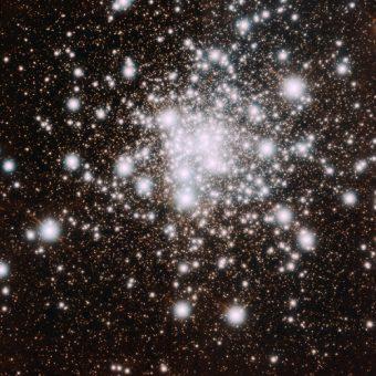Immagine di NGC 6624 raccolta da GeMS, che ha permesso ai ricercatori di rivelare le singole stelle al centro dell'ammasso. Crediti: Gemini Observatory/AURA