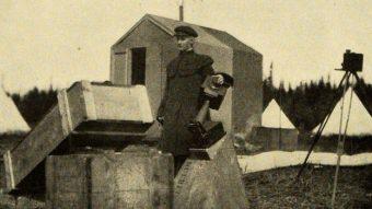 Annie Maunders nel corso della spedizione per l'osservazione dell'eclissi solare nel Labrador. Crediti: Alfred Johnson/Annie Maunder's Family
