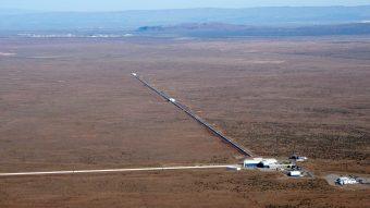 Uno dei due interferometri laser LIGO, con bracci da tre chilometri. Crediti: LIGO