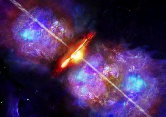 Rappresentazione artistica di un lampo da accrescimento nella giovane stella di grande massa S255IR NIRS 3. Crditi: DSI