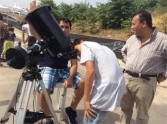 Osservazioni del Sole al Planetario di Villa Filippina