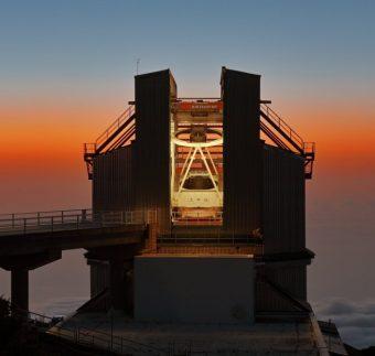 Il Telescopio Nazionale Galileo. Crediti: Giovanni Tessicini / INAF