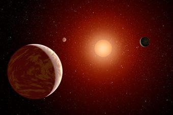 Rappresentazione artistica di un sistema planetario extrasolare. Crediti: NASA
