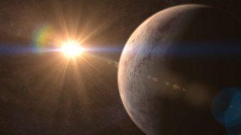 Rappresentazione artistica dell'esopianeta GJ 536 b e della sua stella. Crediti: GABRIEL PÉREZ, SMM (IAC)