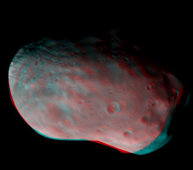 Phobos in 3D. Crediti: ESA/Roscosmos/CaSSIS