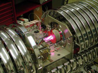 Un dettaglio dell'esperimento. Crediti: Ufficio comunicazione INFN