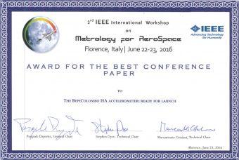 Il premio della IEEE