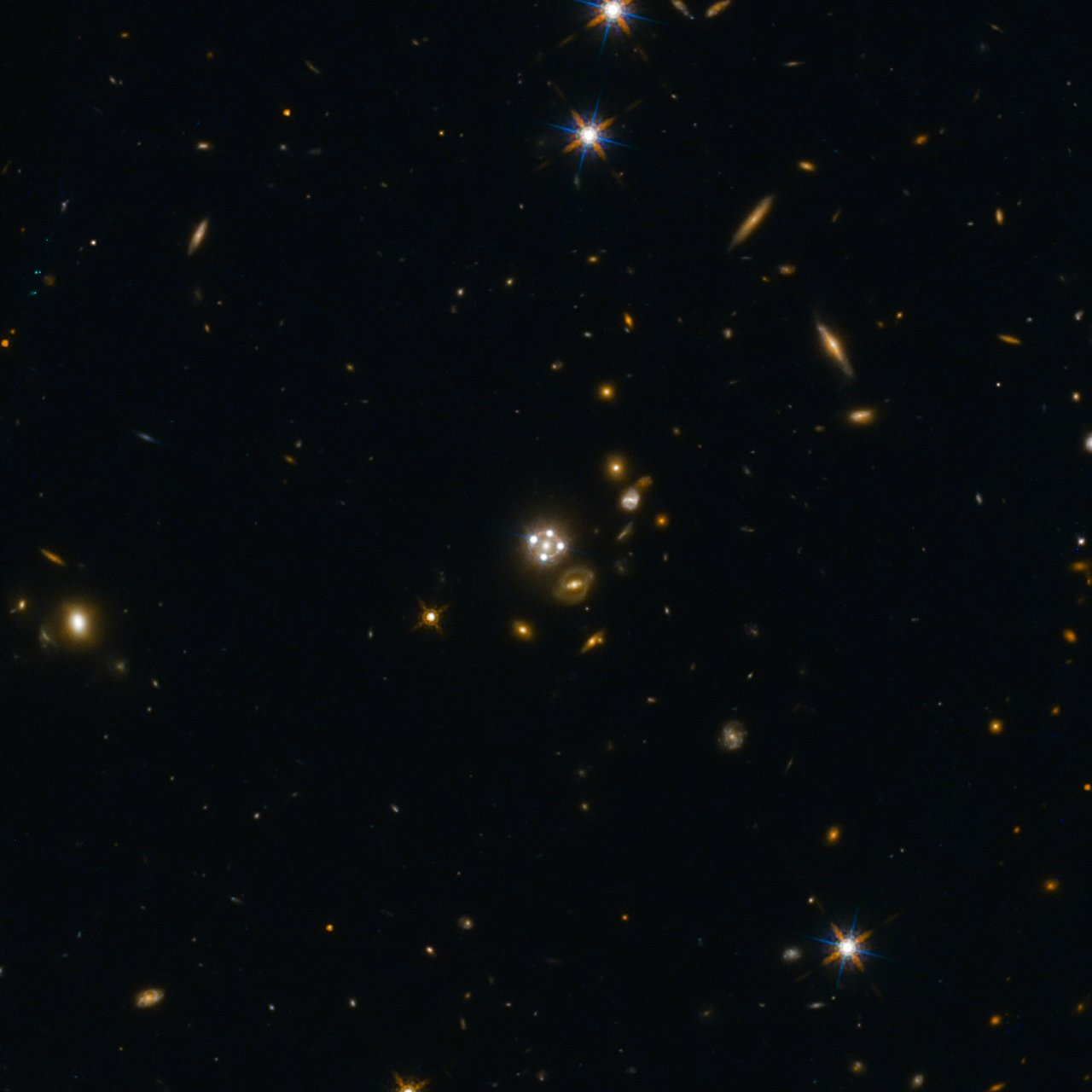Lensed quasar and its surroundings