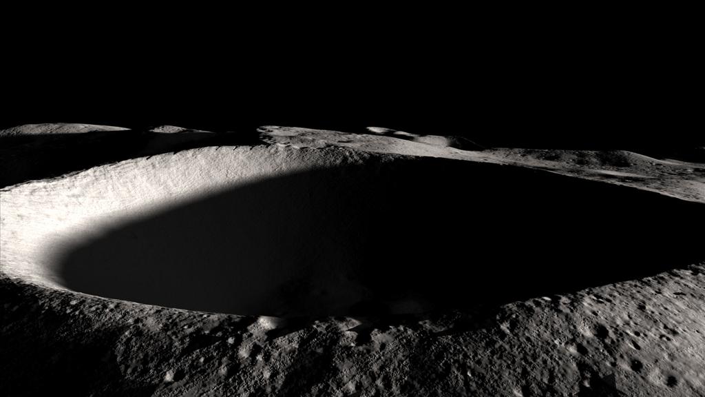 Un cratere sulla Luna