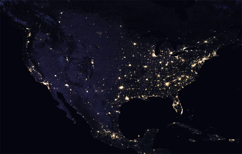 Nasa, ''mappa luminosa'' della Terra: atmosfera e oceani a infrarossi