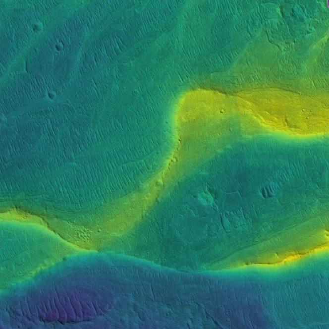 Fiumi in piena nel passato di Marte
