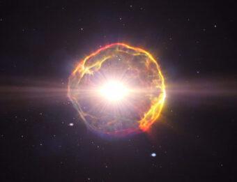 Rappresentazione grafica dell'esplosione di una supernova.