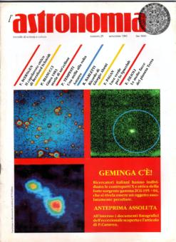 Il numero del settembre 1983 della rivista l'astronomia, dedicato a Geminga