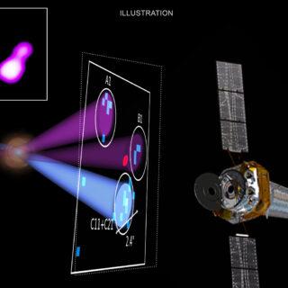 Così vicini, così lontani: due buchi neri a raggi X